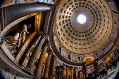 Italien rome, panteon Arkivfoto