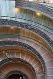 ITALIEN. ROME VATICAN MUSEUM. TRAPPUPPGÅNG FÖR DUBBEL SPIRAL Royaltyfria Bilder