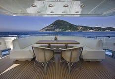Italien, S.Felice Circeo (Rom), Luxuxyacht Lizenzfreies Stockbild