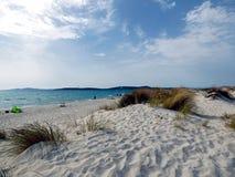 Italien, Sardinien, Carbonia Iglesias, Porto Pino, die Dünen setzen auf den Strand lizenzfreie stockbilder