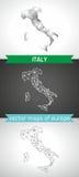 Italien-Satz Grau und polygonale Karten des Silbermosaiks 3d Stockfotos