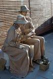 ITALIEN - 23. SEPTEMBER: Straßenkünstler-Pantomimefoto eingelassen: Stockbild