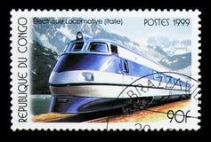 Italien serie för elektriska lokomotiv, circa 1999 Royaltyfria Foton