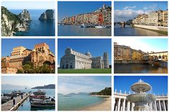 Italien. Set Fotos. Stockbild