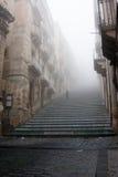 Italien Sicilien Caltagirone - den huvudsakliga gränsmärket av staden är den 142 monumentala Scalinata för momentet dien Santa Ma Royaltyfria Foton