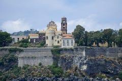 Italien Sicilien Eolie, Lipari fotografering för bildbyråer