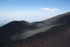 Italien Sicilien, stigning av den Etna vulkan royaltyfri foto