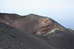 Italien Sicilien, stigning av den Etna vulkan arkivfoton