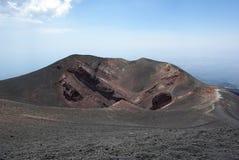 Italien Sicilien, stigning av den Etna vulkan arkivbild