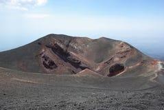 Italien Sicilien, stigning av den Etna vulkan arkivfoto
