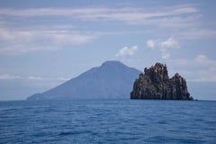 Italien Sizilien, äolische Inseln, Stromboli und Spinazzola stockfotos