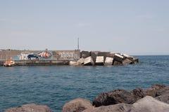 Italien Sizilien Acitrezza Die Hafen Lachea-Insel Lizenzfreies Stockfoto