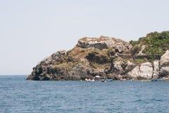 Italien Sizilien Acitrezza Die Hafen Lachea-Insel Stockfotografie