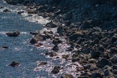 Italien Sizilien Acitrezza Die Hafen Lachea-Insel Lizenzfreies Stockbild