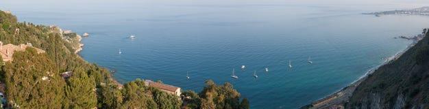 Italien Sizilien Taormina - Panorama Stockfotos