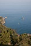 Italien Sizilien Taormina - Panorama Stockbilder