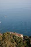 Italien Sizilien Taormina - Panorama Stockbild