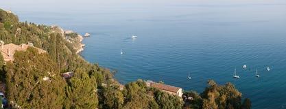 Italien Sizilien Taormina - Panorama Stockfoto