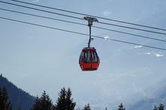 Italien skidar semesterorten Passo del Tonale Arkivfoton