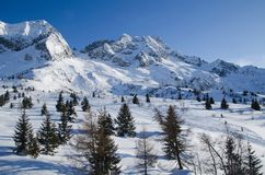 Italien skidar semesterorten Passo del Tonale Royaltyfri Bild