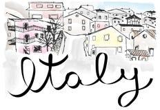 Italien stadlandskap vektor illustrationer