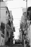 Italien street view in black and white Royalty Free Stock Photo
