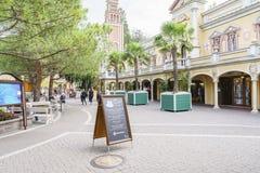Italien themed område - Europa parkerar, Tyskland Royaltyfria Bilder
