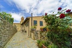 Italien, Toskana, Castiglione-della Pescaia, Maremma Toskana, entlang den Gassen des Dorfs, hdr stockbild