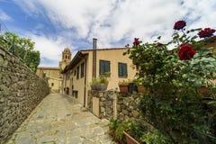 Italien, Toskana, Castiglione-della Pescaia, Maremma Toskana, entlang den Gassen des Dorfs, hdr lizenzfreies stockfoto