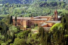 Italien, Toskana, Siena, Monteoliveto-Abtei Lizenzfreie Stockfotografie