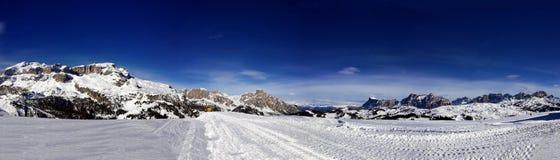 Italien, Trentino, Dolomit, panormaic Ansicht der Berge stockbilder