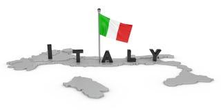 Italien-Tribut lizenzfreie abbildung