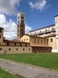 Italien Tuscany, Lucca, domkyrka Arkivbild