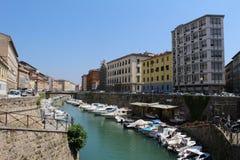 Italien Tuscany, port av Livorno Royaltyfri Bild