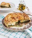 Italien typique Pâques de tarte de Pasqualina photographie stock libre de droits