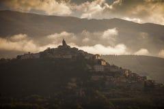 Italien, Umbrien, Trevi-Dorf Stockbild