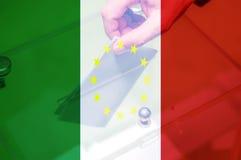 Italien utgångsEU Arkivfoton