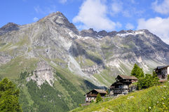 Italien (Val-d'Ayas) Resy Lizenzfreies Stockbild