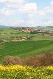 Italien. Val D'Orcia Tal. Toskana-Landschaft Lizenzfreies Stockbild