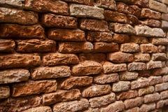 Italien, Venedig, alte Backsteinmauer Lizenzfreie Stockfotografie