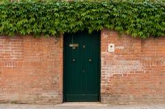 Italien Venedig dörr och buskar Arkivbild