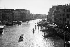 Italien, Venedig, am 25. Februar 2017 Schwarzweiss-Foto von Venic Lizenzfreie Stockbilder