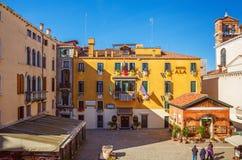 Italien Venedig, 25 Februari 2017 Fyrkanten av Santa Maria del G Arkivbild