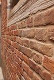 Italien Venedig, forntida tegelstenvägg Royaltyfri Bild