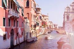 Italien Venedig Kanäle und Architektur Stockfotos