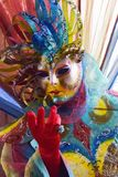 Italien Venedig karnevalmaskeringar Royaltyfria Bilder