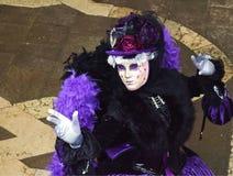 Italien Venedig karnevalmaskeringar Arkivfoton