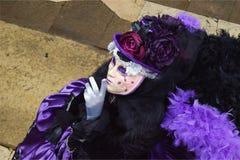 Italien Venedig karnevalmaskeringar Royaltyfri Bild