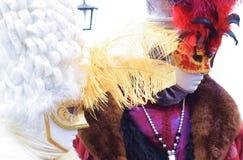 Italien Venedig karnevalmaskeringar Arkivfoto