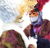 Italien Venedig karnevalmaskeringar Arkivbilder
